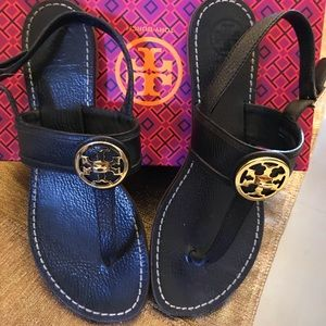 SOLD- Black Tory Burch Sandals- SOLD